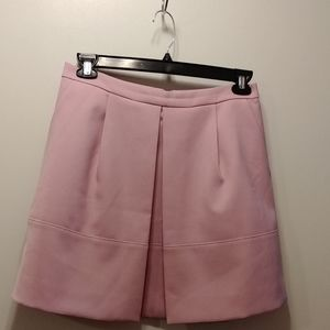 J crew pink pleated skirt